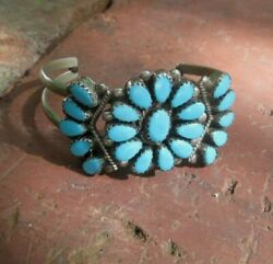 Native American Silver Turquoise Bracelet Small Size Lady Or Child