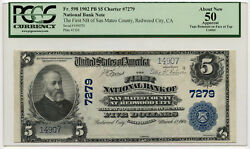 1902 5 First Nb Of San Mateo County At Redwood City Ca Pcgs Au 50 App. Ch7279