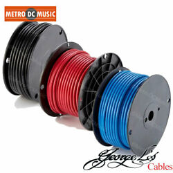 George Land039s .225 Black Red Blue Solderless Pedal Board Patch Cable Bulk Per Foot