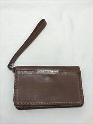 RELIC Wristlet 6x4 Leather Brown $11.99
