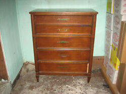 Solid Fruit Wood Five Drawer Chest By White Furniture Company