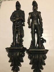 Vintage Pair Of 1965 Burwood Products Company Soldiers Wall Hanging 4325 And 4326