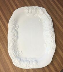 Culinary Essentials Turkey Platter Made Italy Embossed Oval Serving Dish Plate