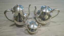 Mexican Sterling Silver Tea Coffee Service By Jlr Juvento Lopez Reyes