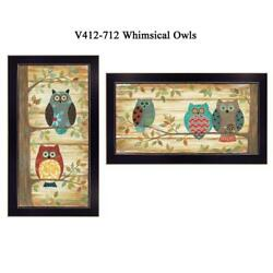 The Wise Owls Collection By Annie Lapoint Printed Wall Art Wood Multi-color