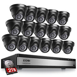 Zosi 16ch 1080p Home Security Camera System Outdoor H.265+ Surveillance Dvr Kit