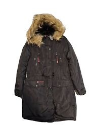 Canada Weather Gear Womens Waterproof Coat Parka Faux Fur Quilted Jacket M