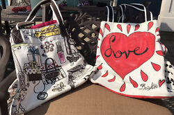 Brighton Canvas Totes On The Wings Of Doves Love Hearts $24.00