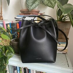 Mansur Gavriel Mini Bucket Bag Black Gold Lovely $265.00