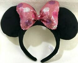 Tokyo Disney Resort Pink Kawaii Minnie Mouse Head Band Katyusha Japan Us93