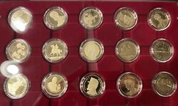 Romania Complete Set Of 15 Coins 50 Bani Proof 2010 - 2019 For Collection B.n.r.
