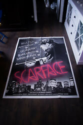 Scarface B. Karloff 1932 4x6 Ft French Grande Movie Poster Rerelease 1987