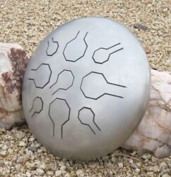 Stainless Steel Tongue Drum Handpan Vibedrum - Natural - 18 Notes - Tuned - P