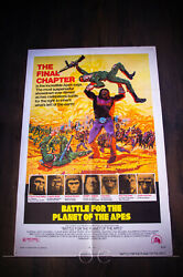 Battle Planet Of The Apes 27x40 Us One Sheet Vintage Movie Poster Original 1973