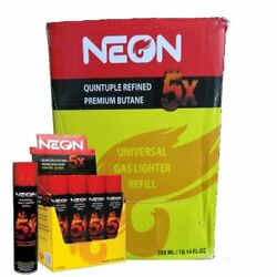 96 Cans Neon 5x Quintiple Refined Premium Butane Master Case Fast Shipping