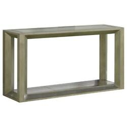 Best Master Pascual Solid Wood Console Table In Dull Gold With Antique Mirrored