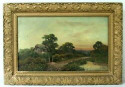 Antique Oil Painting By British Listed Artist Edwin Cole Born 1868