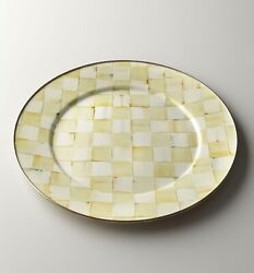 Mackenzie-childs Parchment Check Enamel Charger/ Plate 12andrdquo - Discontinued