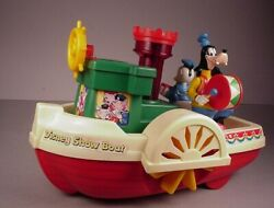 Vintage Walt Disney Toy Mickey Mouse Steam Show Boat Battery Operated 1981