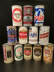 Peter Hand Brewing Beer Cans - Old Chicago Old Crown Zodiac Oertels Alps Bra