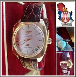 Longines @ Ultra-chron Automatic Watch C1965 Cal.431 Solid 18k.