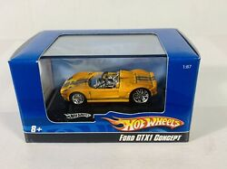 Hot Wheels Ford Gtx1 Concept In Display Case Yellow 187 Scale Really Cool