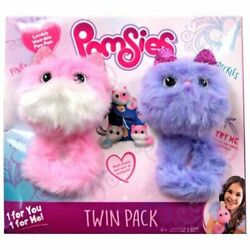 Pomsies Pinky And Speckles Plush Toy 2 Pack