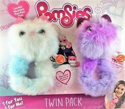Pomsies Snowball And Boots Plush Toy 2 Pack