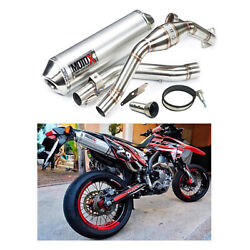 Exhaust Enduro Pipe Motocross V.1 Stainless Silver Honda Crf 250l/m-crf 250rally
