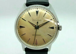Bulova Vintage Mens Watch M4 1964 Manual Wind Serviced Stainless