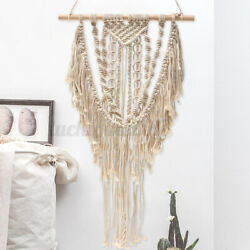 30#x27;#x27; Macrame Woven Bohemian Wall Hanging Tapestry Chic Tassel Art Room Decor