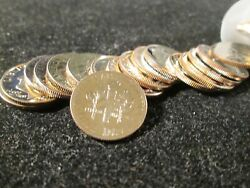 1984 Roosevelt Proof Dimes Clad Part Roll 49 Coins