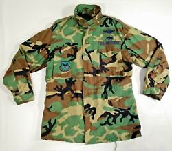 Field Coat Men M Long Cold Weather Lined Hooded Usaf Woodland Camo Golden Mfg Co