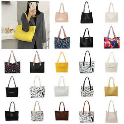 Women Solid Handbag Casual Travel Totes Purse Large Capacity Shoulder Bag Purse C $18.73