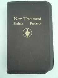Vintage New Testament Pocket Bible With Psalms And Proverbs