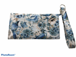 Handmade Wallet Wristlet for Cell Phone Cash amp; Credit Cards $20.00