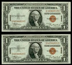 2 1935 A Silver Certificate Hawaii Consecutive Emergency Issues Fr 2300