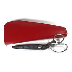 Vintage Griffon Pinking Shears/scissors And Case Dressmaking Sewing