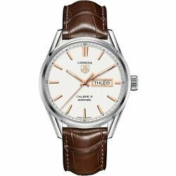 Tag Heuer War201a.fc6291 Carrera 41mm Men's Automatic Brown Leather Watch