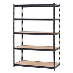 5 Shelf Heavy Duty Muscle Rack Adjustable Steel Storage Metal Shelves Level Unit