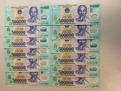 Vietnamese 25 Million Dong. 500000 X 50 Vnd Banknotes. Unc Vietnam Currency Z
