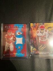 2020 Panini Origins Clyde Edwards-helaire Auto /25 Gold Ink Kansas City Chef