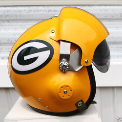 Green Bay Packers Pilot Helmet - Football Aaron Rodgers Jordy Nelson Collectorand039s
