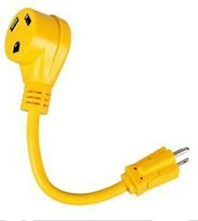 Rv Power Cord Adapter 15 Amp Male To 30 Amp Female Dogbone Electrical Converter