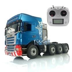1/14 Lesu Metal Scania 88 Chassis Rc Tractor Truck Hercules Cabin Radio Sound