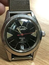 Vintage Military West End Watch Co Prima Automatic Movement Ss Watches R2