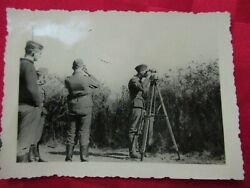 Wwii Original German Photo Combat Soldiers Luft With Sighting Sextant
