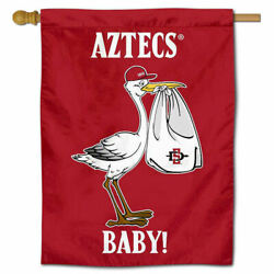 San Diego State University New Baby Gift Decorative House Flag