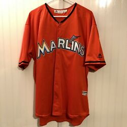 Miami Marlins Jersey Giancarlo Stanton 27 Majestic Official Mens Xl Mlb Rare