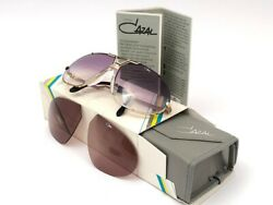 New Vintage Cazal Mod 906 Col 358 Gold Oversized 1980 Made In Germany Sunglasses